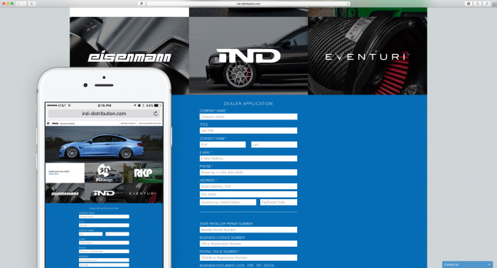 IND Dealer Portal Site with Mobile Preview