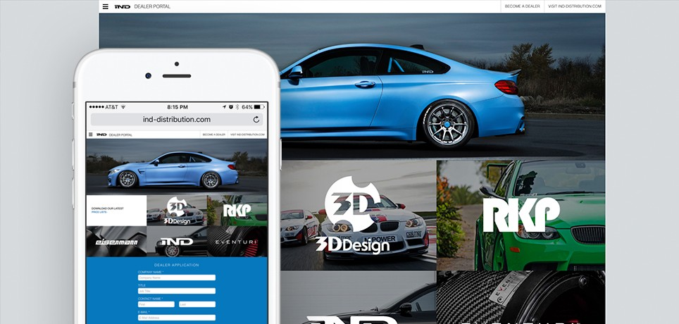 IND Distribution - Dealer Portal Design